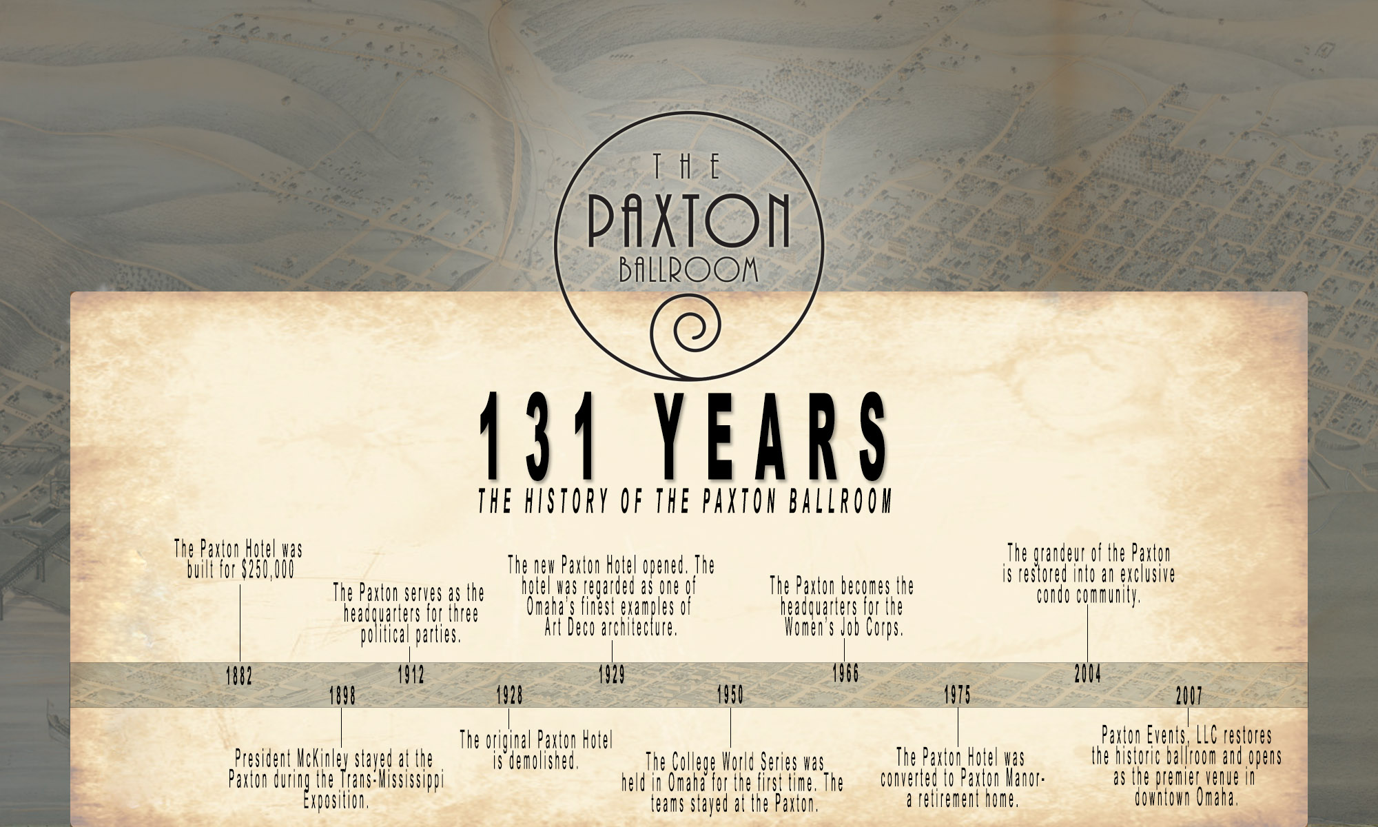 history of the paxton ballroom